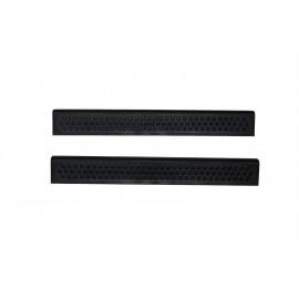 AVS Stepshield® Door Sill Protector - 2 pc. Front 88821 | Door Sill Plate - Black
