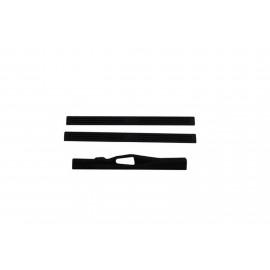 AVS Stepshield® Door Sill Protector - 3 pc. Front 90924 | Door Sill Plate - Black