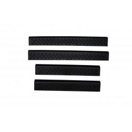 AVS Stepshield® Door Sill Protector - 4 pc. Front And Rear 91011 | Door Sill Plate Set - Black