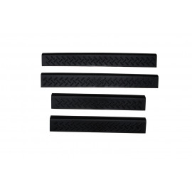 AVS Stepshield® Door Sill Protector - 4 pc. Front And Rear 91021 | Door Sill Plate Set - Black