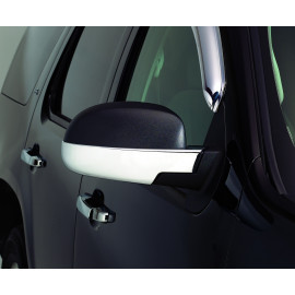 AVS Chrome Mirror Cover™ - Lower Half 687665 | Door Mirror Cover - Chrome