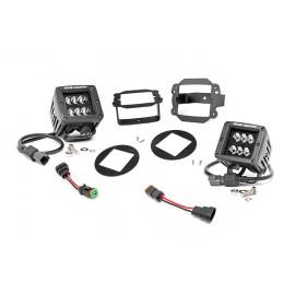 Rough Country Black Series LED Fog Light Kit 70623 | Fog Light