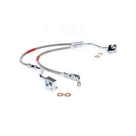Rough Country Stainless Steel Brake Lines 89310S | Brake Hydraulic Line Kit