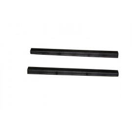 AVS Stepshield® Door Sill Protector - 2 pc. Front 88130 | Door Sill Plate - Black