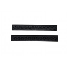 AVS Stepshield® Door Sill Protector - 2 pc. Front 88428 | Door Sill Plate - Black