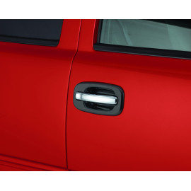 AVS Chrome Door Lever Cover™ - 4 pc. - Handle Only 685406 | Exterior Door Handle Cover - Chrome