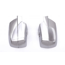 AVS Chrome Mirror Cover™ - w/Light Hole 687683 | Door Mirror Cover - Chrome