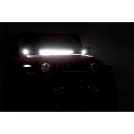 Rough Country LED Lower Windshield Kit 70052 | Exterior Multi Purpose LED