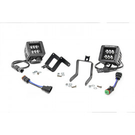 Rough Country Black Series LED Fog Light Kit 70622 | Fog Light